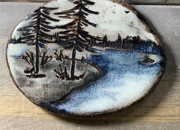 Carved Pine Landscape