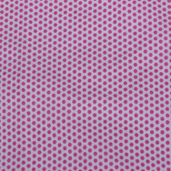 Pink dots on white fabric