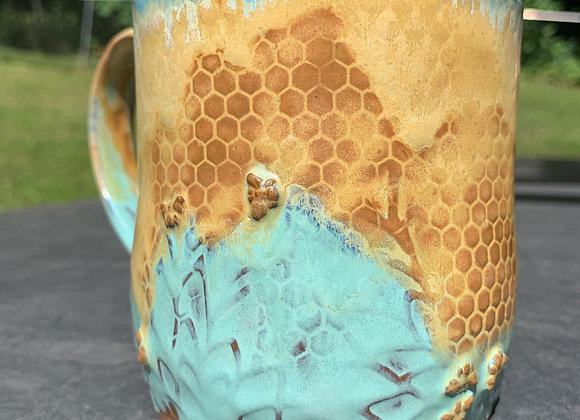 Honey 'n Turquoise Mug