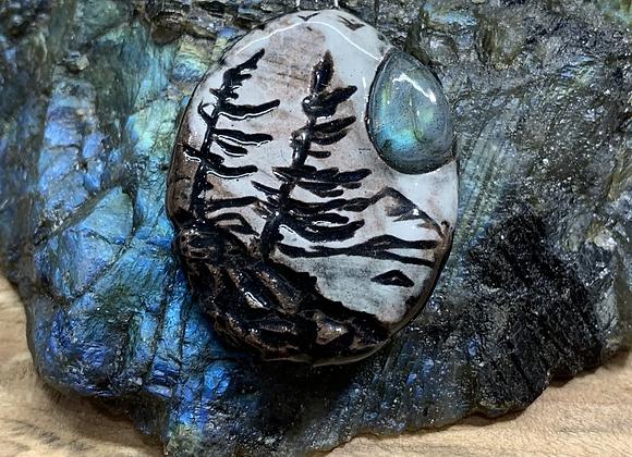 Twin Pine Silhouettes w/Labradorite