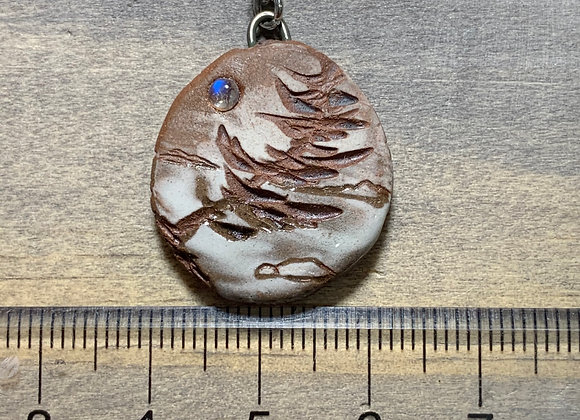 Carved Pine w/ Moonstone