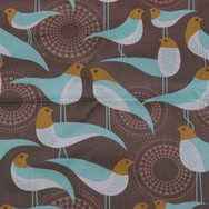 Blue birds with brown background