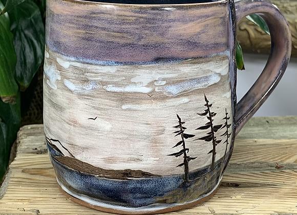 Pink Skies Over Blue Waters -Big mug 18-20ish oz