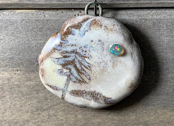 Carved Pine w/ Opal Moon