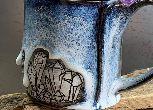 Amethyst Crystal Carved Mug
