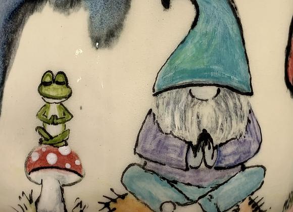 25. Gnome Cup *beauty mark on mushroom cap (no handle)