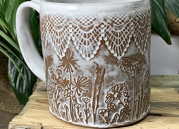 Lace Wildflower Mug