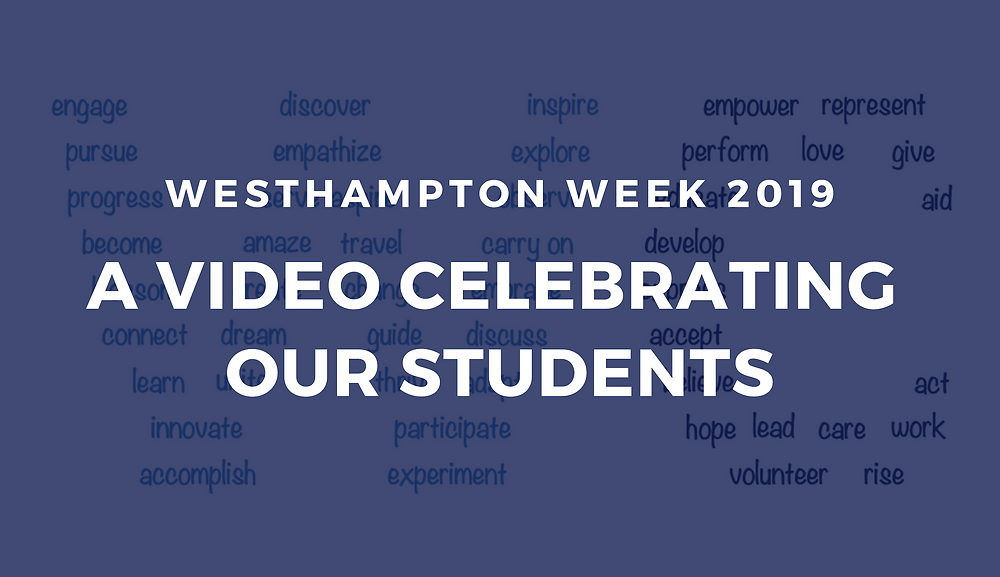 WCGA has created a video highlighting many Westhampton College students in honor of Westhampton Week 2019.