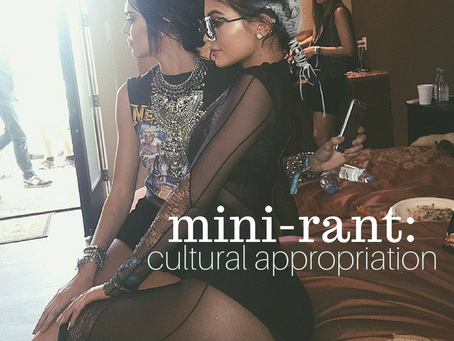 mini-rant: cultural appropriation