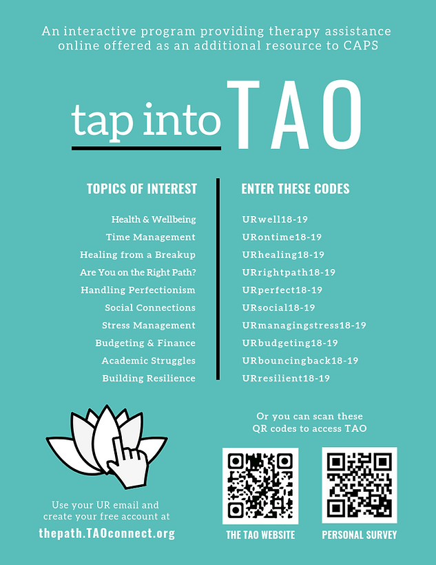 Counseling and Psychological Services: TAO Flyer