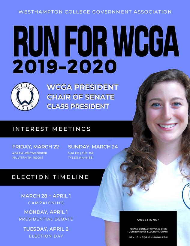 WCGA 2019 Elections Informational Flyer