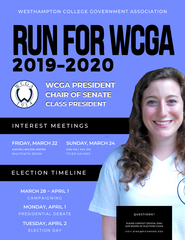 WCGA 2019 Elections Informational Flyer