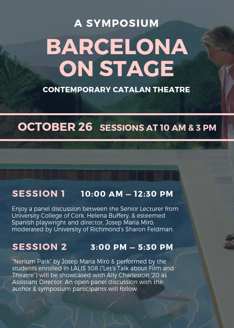Barcelona on Stage Symposium Flyer