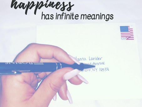 happiness has infinite meanings