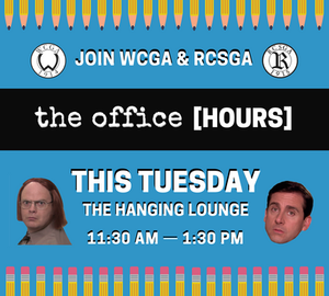 """On Tuesday October 9th, 2018, WCGA & RCSGA will be hosting """"The Office [HOURS]"""" for students."""