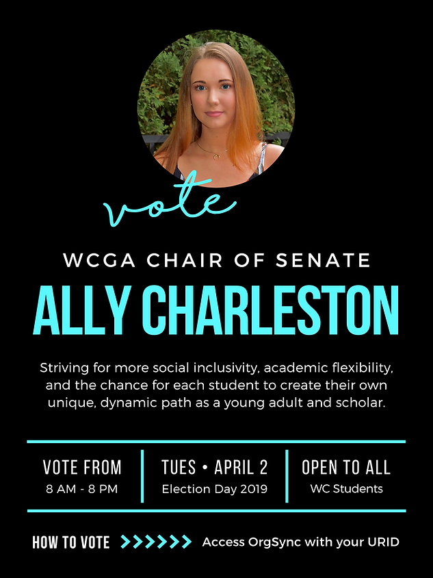 WCGA Chair of Senate Campaign Poster