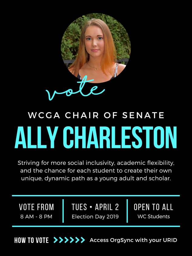 WCGA Chair of Senate Campaign Poster