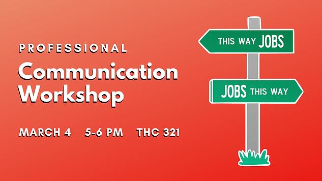 Communication Workshop Career Services