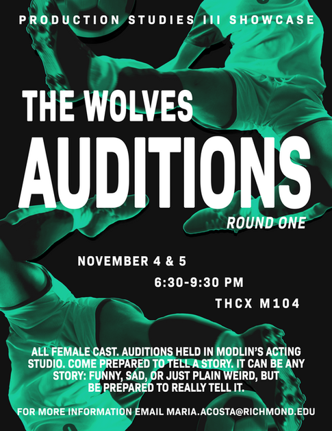 The Wolves: Audition Poster