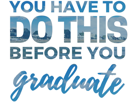 do this before you graduate