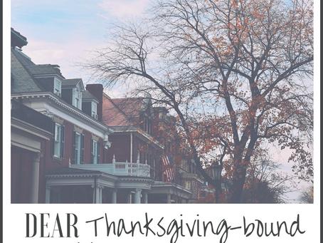 dear Thanksgiving-bound college freshmen: