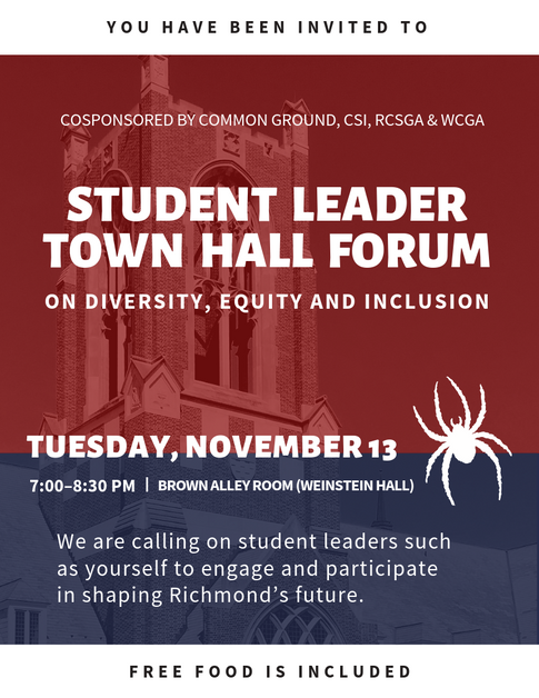 Student Leader Town Hall Forum