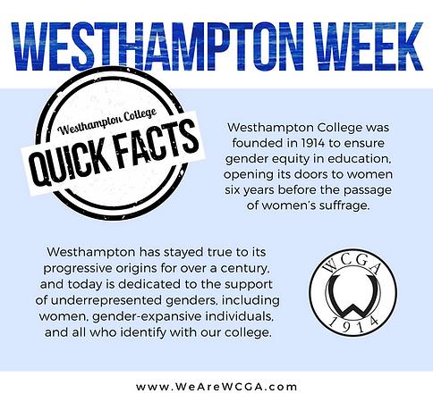 Westhampton Week Quick Facts Social Media