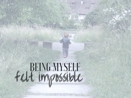 """being myself felt impossible"""