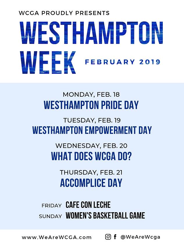 Westhampton Week 2019 Flyer