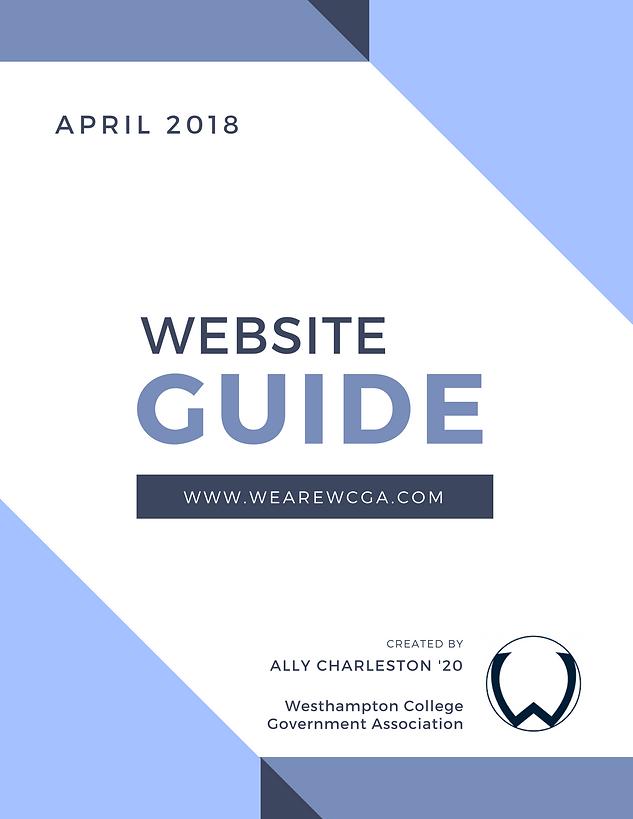 WCGA Website Guide