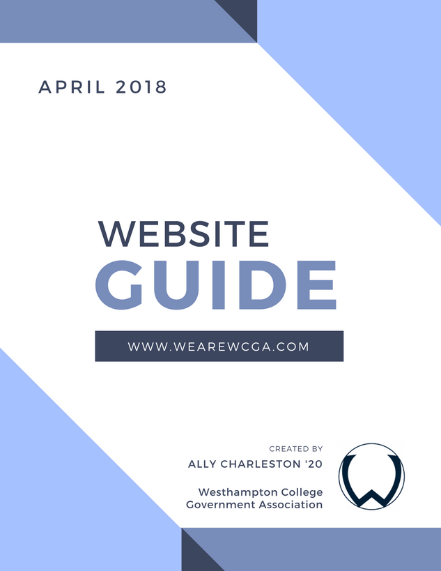 WCGA Website Guide