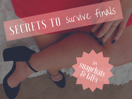 secrets to survive finals...in snapchats and GIFs