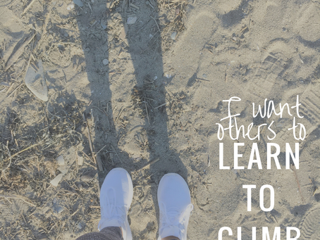 I want others to learn to climb
