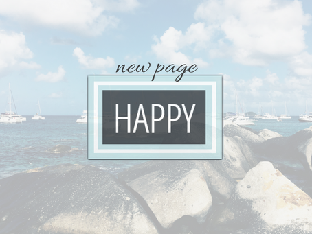 new page: happy