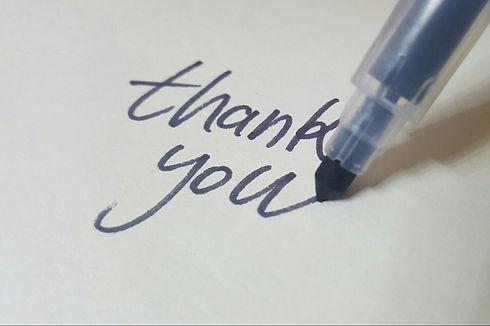 Canva - Pen Writing Thank You on White B