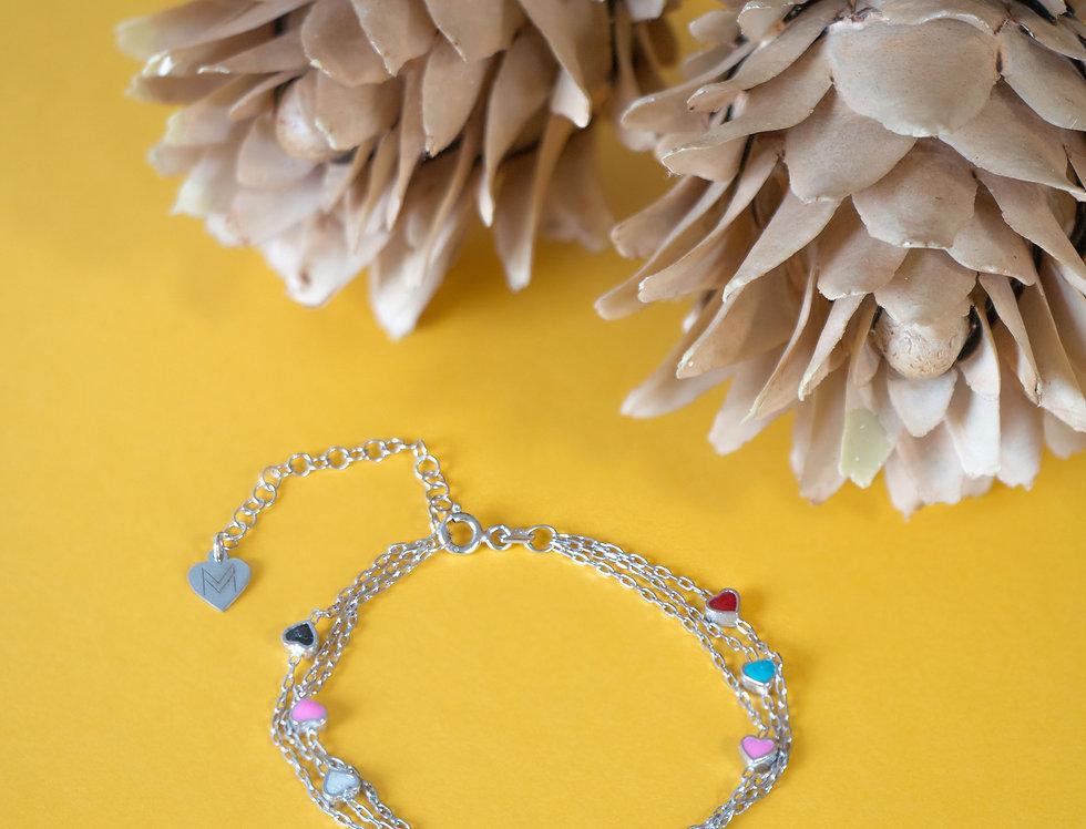 """Bracelet """"Heart colors"""""""
