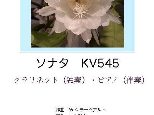 モーツアルト「ソナタK.545」(Cl独奏・P伴奏)