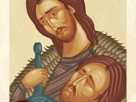 Personagens da cultura pop retratados como ícones bizantinos