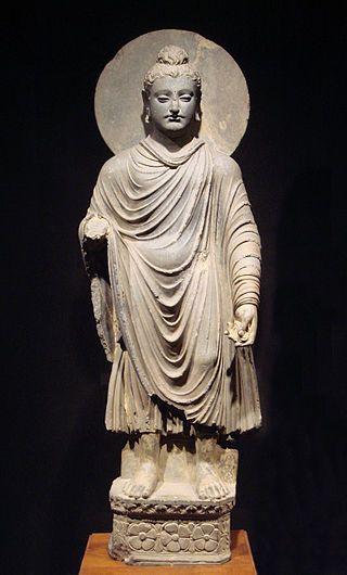 uma das primeiras representações de Buda sec 2-1 a.C Paquistào