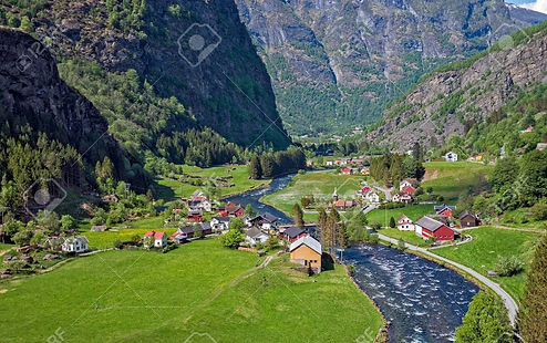 71467560-beautiful-small-village-at-flam