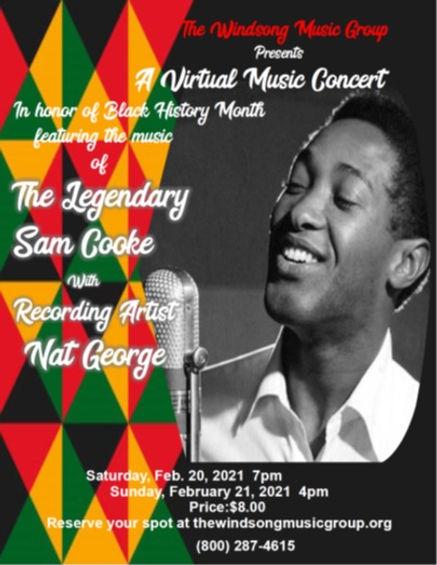 Nat sings Sam virtual concert Feb 21 202