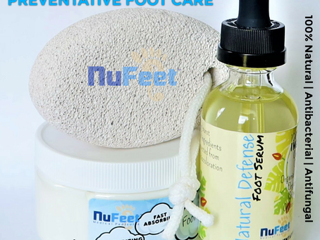 For smooth feet.