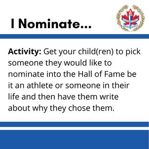 I Nominate...