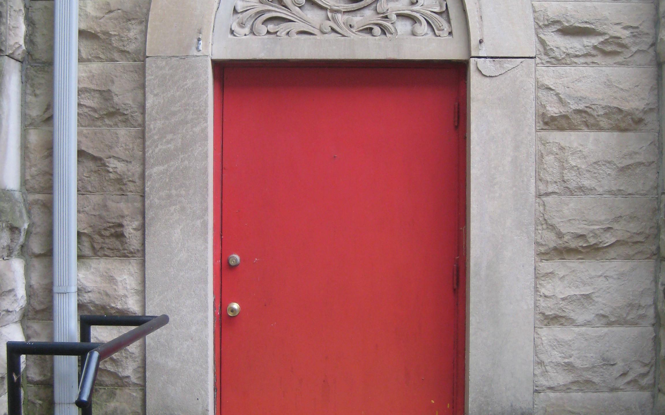 Limestone carving East Door