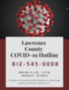 Lawrence County Indiana COVID-19 Hotline