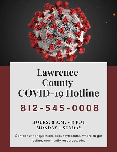 Lawrence County Indiana COVID-19 Hotline