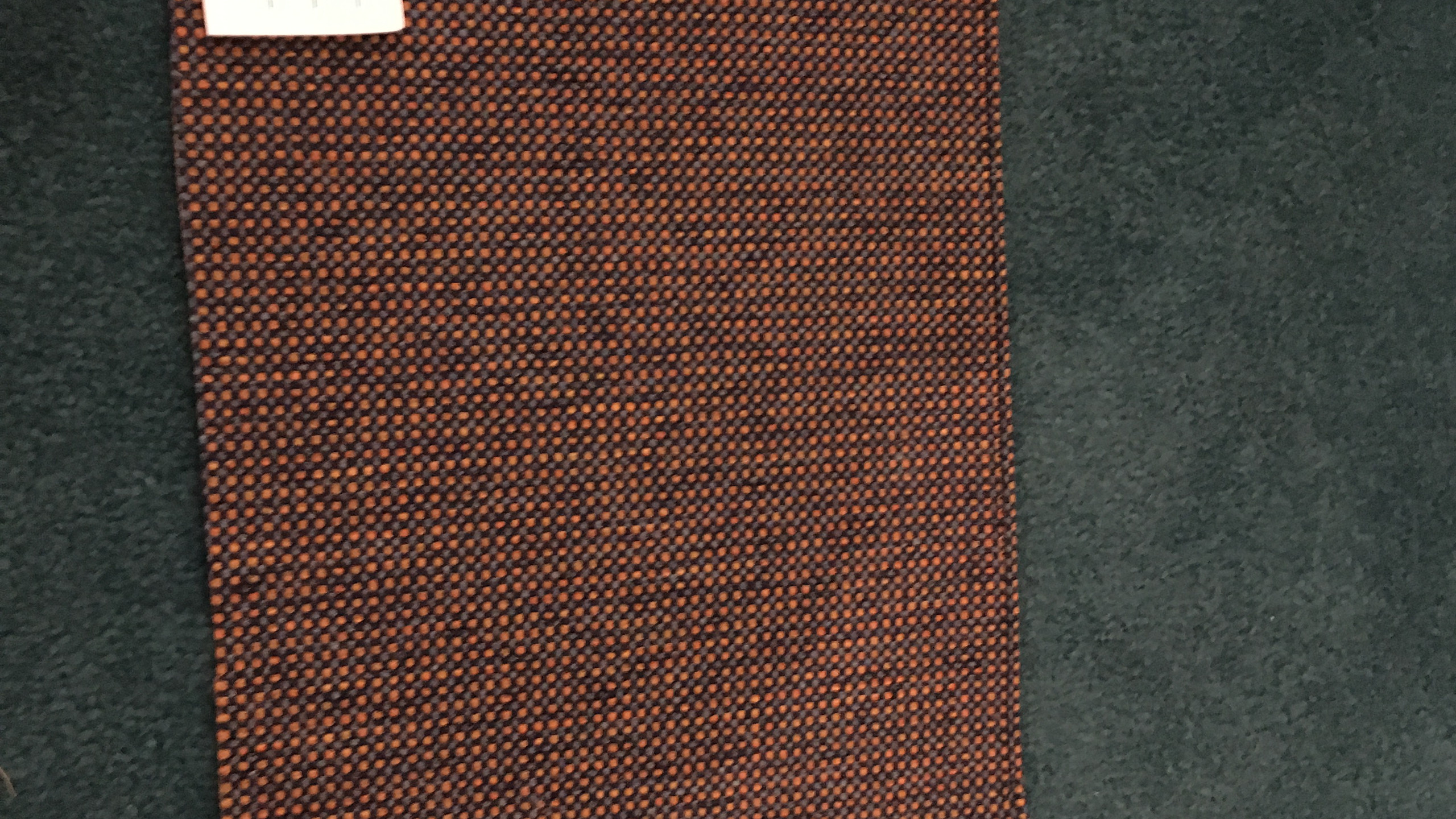 Fabric sample on carpet