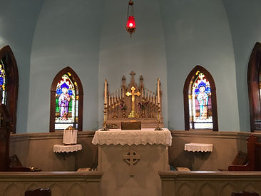 Altar at St. John's of Bedford