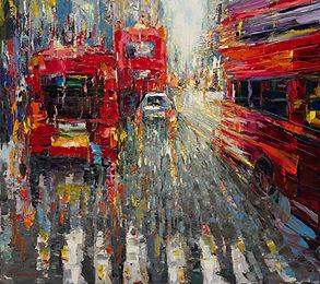 London rainy colours