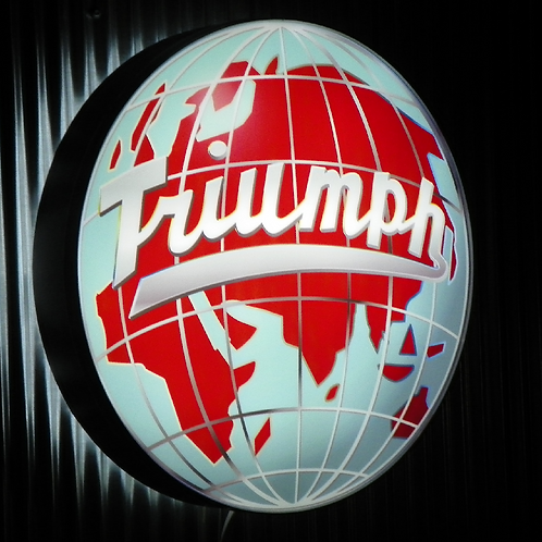 Triumph TR4A Globe L.E.D Display Sign